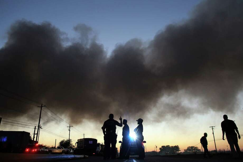 A fire was reported on Wednesday at Holmes Road Recycling Center, just west of Texas 288 and south of the 610 Loop. Photo: Mark Mulligan, Houston Chronicle / © 2016 Houston Chronicle
