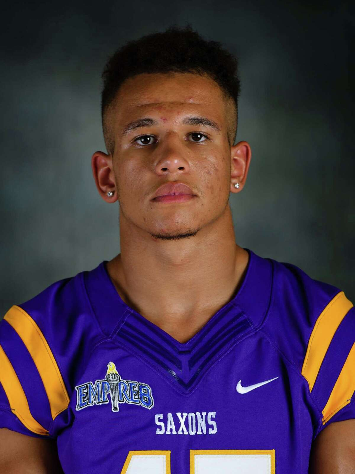 Averill Park graduate Isaiah Moak of the Alfred football team. (Alfred sports information)
