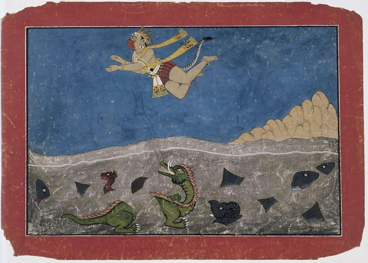 A work from �The Rama Epic: Hero, Heroine, Ally, Foe,� at the Asian Art Museum through Jan. 15.