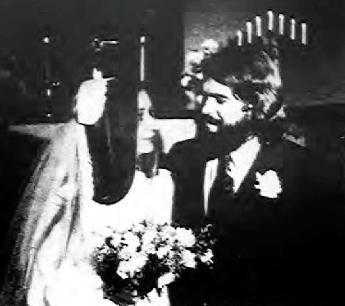 Wedding announcement photo of Lori Briggs and Michael Milks from Wednesday, Jan. 9, 1974. It was published in the Cortland Standard.