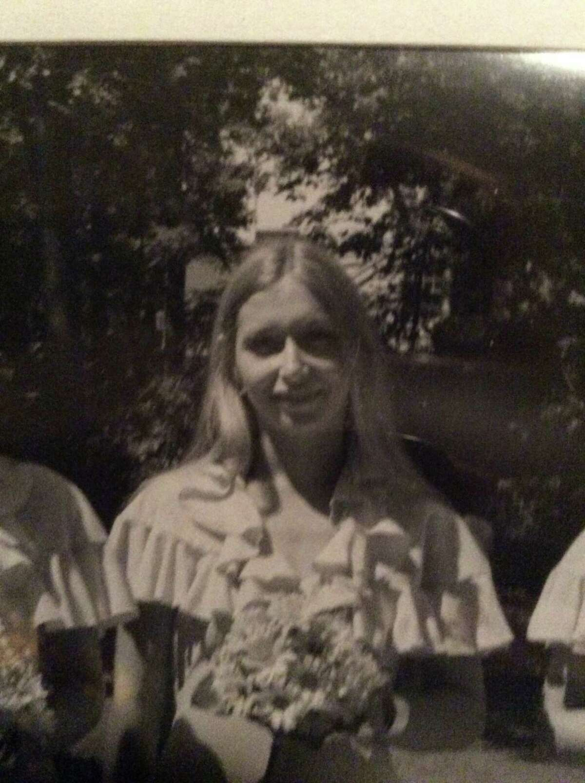 Lori Milks in 1975 at the wedding of her friends Daniel and Judy Odell. (Courtesy the Odells)
