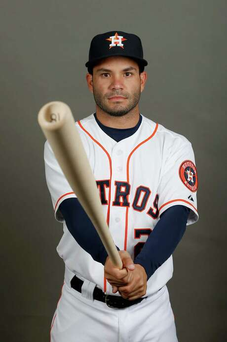 KISSIMMEE, FL - FEBRUARY 24:  Jose Altuve #27 of the Houston Astros poses on photo day at Osceola County Stadium on February 24, 2016 in Kissimmee, Florida.  (Photo by Rob Carr/Getty Images) Photo: Rob Carr, Staff / 2016 Getty Images