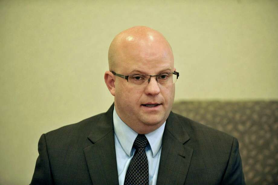 Joel Abelove, candidate for Rensselaer County District Attorney, talks to members of the Times Union editorial board on Wednesday, Oct. 15, 2014, in Colonie, N.Y.   (Paul Buckowski / Times Union) Photo: Paul Buckowski / 00029042A