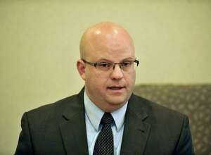 Joel Abelove, candidate for Rensselaer County District Attorney, talks to members of the Times Union editorial board on Wednesday, Oct. 15, 2014, in Colonie, N.Y.   (Paul Buckowski / Times Union)