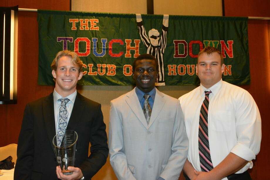 Bryson Powers (Klein Collins), George Nyakwol (Eisenhower) and Logan Tonini (Manvel). Photo: Angel Verdejo