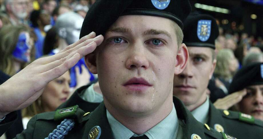 """This image released by Sony Pictures shows Joe Alwyn, portraying Billy Lynn, in a scene from the film, """"Billy Lynn's Long Halftime Walk,"""" in theaters on November 11. (Mary Cybulski/Sony-TriStar Pictures via AP) Photo: Courtesy Of Sony Pictures, HONS / Associated Press / © 2016 CTMG, Inc. All Rights Reserved. **ALL IMAGES ARE PROPERTY OF SONY PICTURES ENTERTAINMENT INC. FOR PROMOTIONAL USE ONLY."""