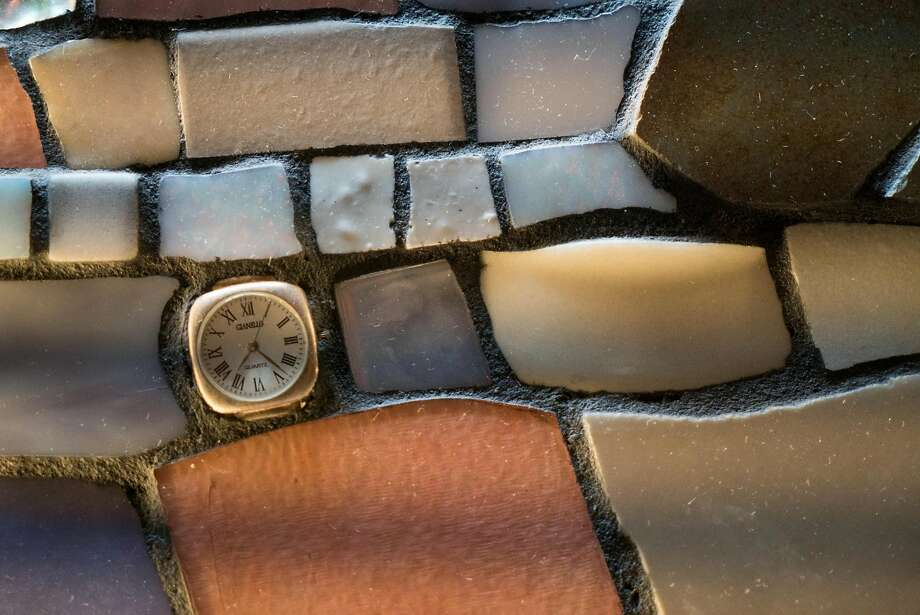 A new mosaic lines a bathroom at the Esalen Institute, which underwent a recent campus renewal. Photo: James Tensuan, Special To The Chronicle