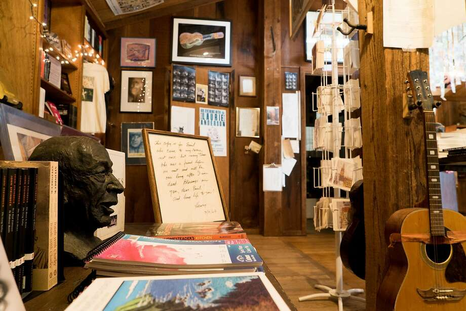 Counterculture ephemera, books, records and art at the Henry Miller Memorial Library in Big Sur. Photo: James Tensuan, Special To The Chronicle