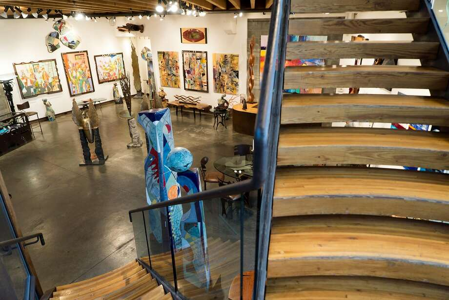 Work from local artists and members of the talented Hawthorne family line the walls of the Hawthorne Gallery off Highway 1 in Big Sur. Photo: James Tensuan, Special To The Chronicle