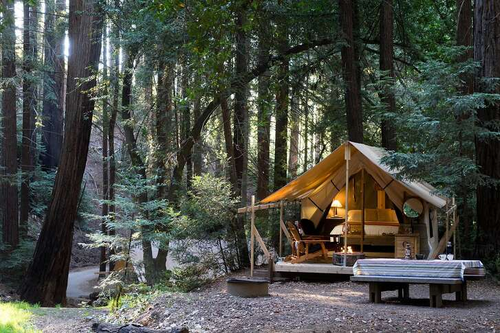 A new campsite is seen at Ventana in Big Sur, Calif.  on Tuesday, Nov. 15, 2016. Ventana offers guests camping, dining and spiritual workshops.
