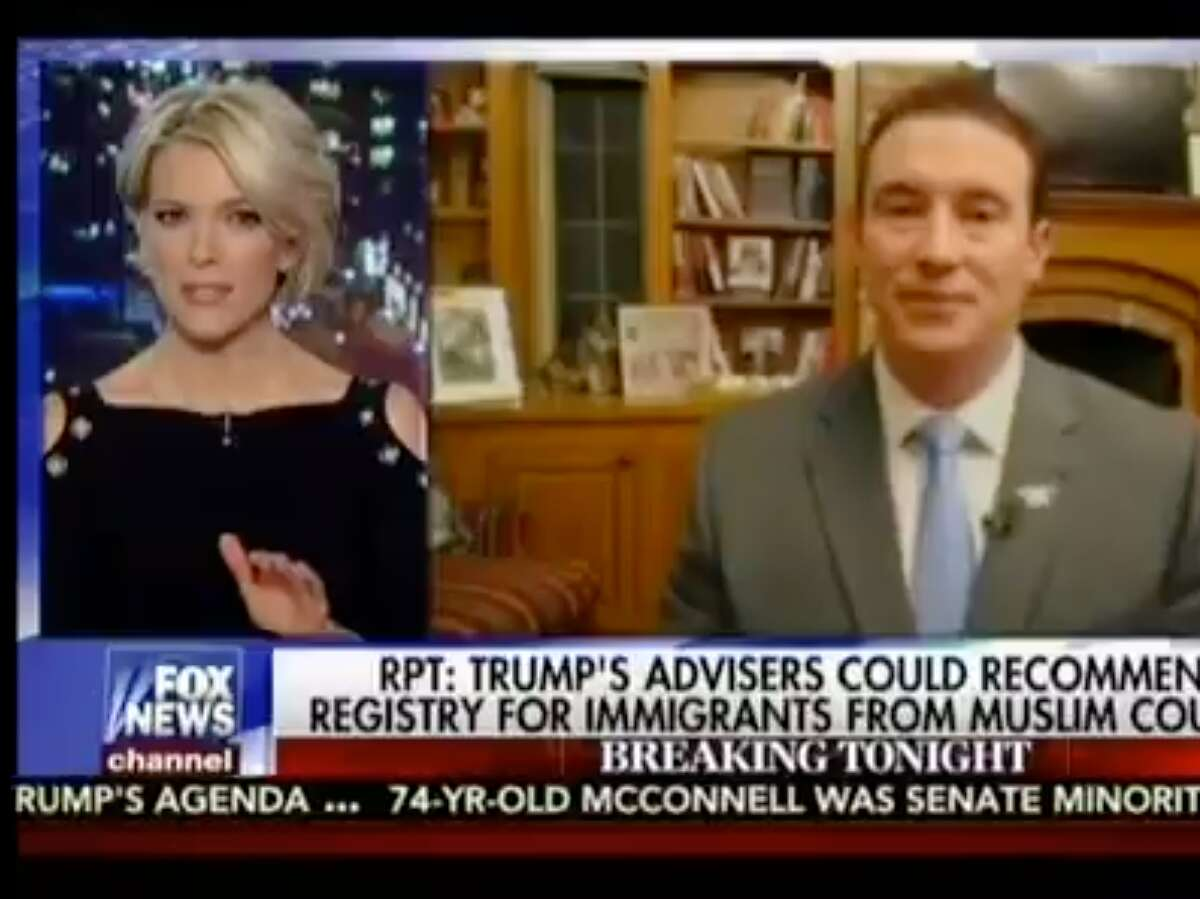 Megyn Kelly and Carl Higbie, a former Navy SEAL on Fox News's