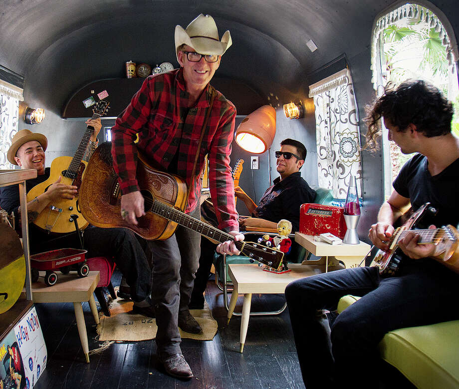 It'll definitely be a twangy swing night for the dancing crowd, courtesy of the San Antonio rockabilly band led by guitarist Kevin Geil (center).8:30 p.m. Monday (doors at 7), Sam's Burger Joint, 330 E. Grayson St. $10, samsburgerjoint.com-- Robert Johnson Photo: Courtesy Photo