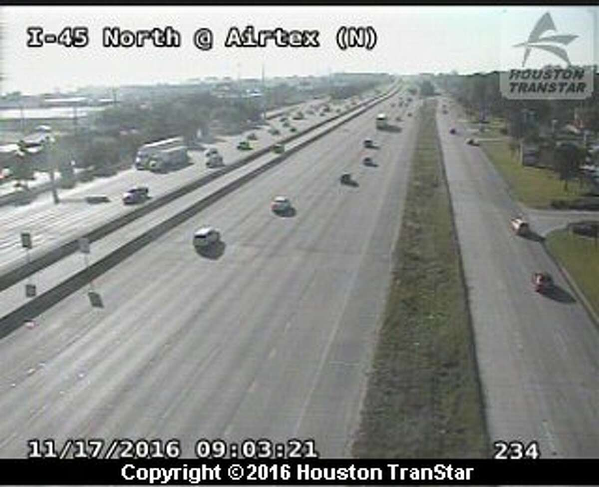 A four-vehicle accident on I-45 Southbound has slowed traffic from Airtex Boulevard to Louetta Road, Thursday, Nov. 17, 2016.