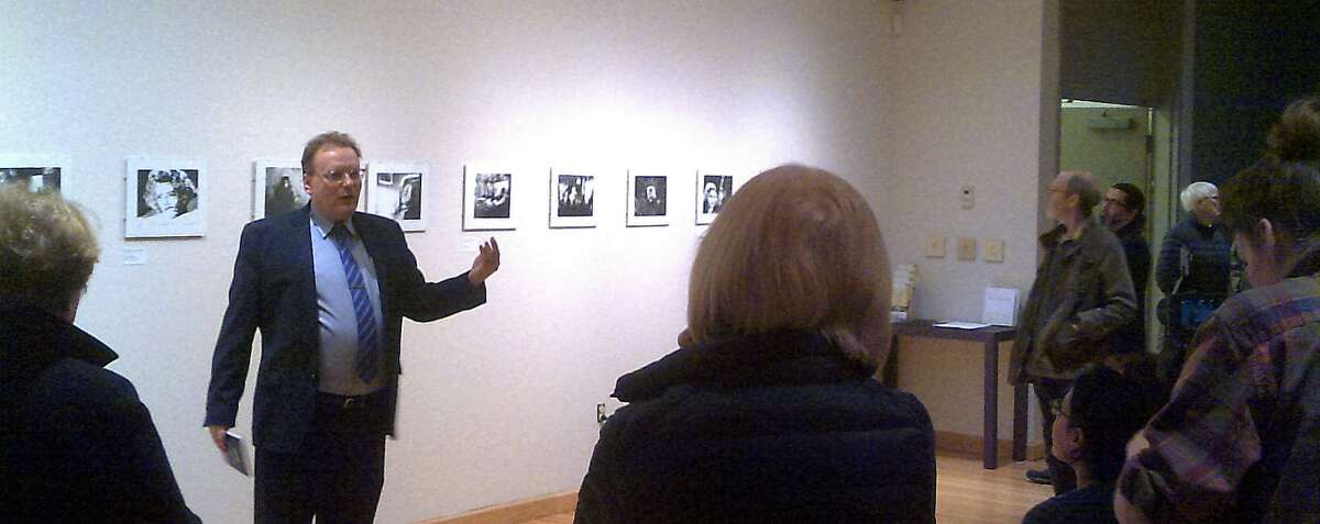 Film Noir expert Dr. Richard Edwards presented the exhibition and discussed the dark and edgy film style that emerged in the early 1940s.