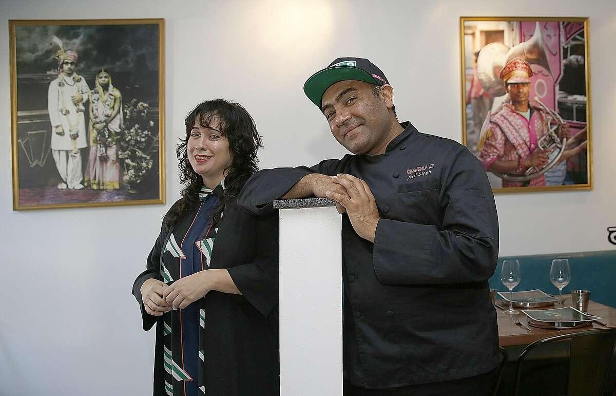 Partners Jennifer Singh (left) and Jessi Singh (right) show their new San Francisco restaurant Babu Ji on Wednesday, November 16, 2016, in San Francisco, Calif.
