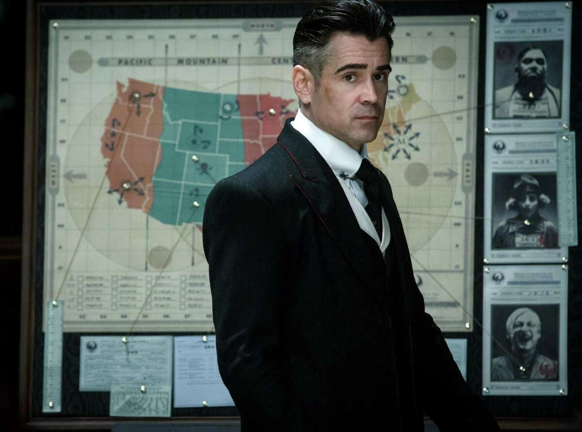 """This image released by Warner Bros. shows Colin Farrell, in a scene from, """"Fantastic Beasts and Where to Find Them."""" (Jaap Buitendijk/Warner Bros. Entertainment via AP)"""