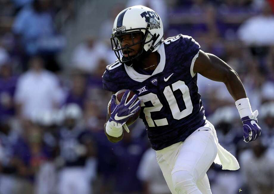 The Texans' undrafted free agent class include Texas Christian wide receiver Deante' Gray. Gray received a $2,000 signing bonus. Photo: Ronald Martinez, Staff / 2016 Getty Images
