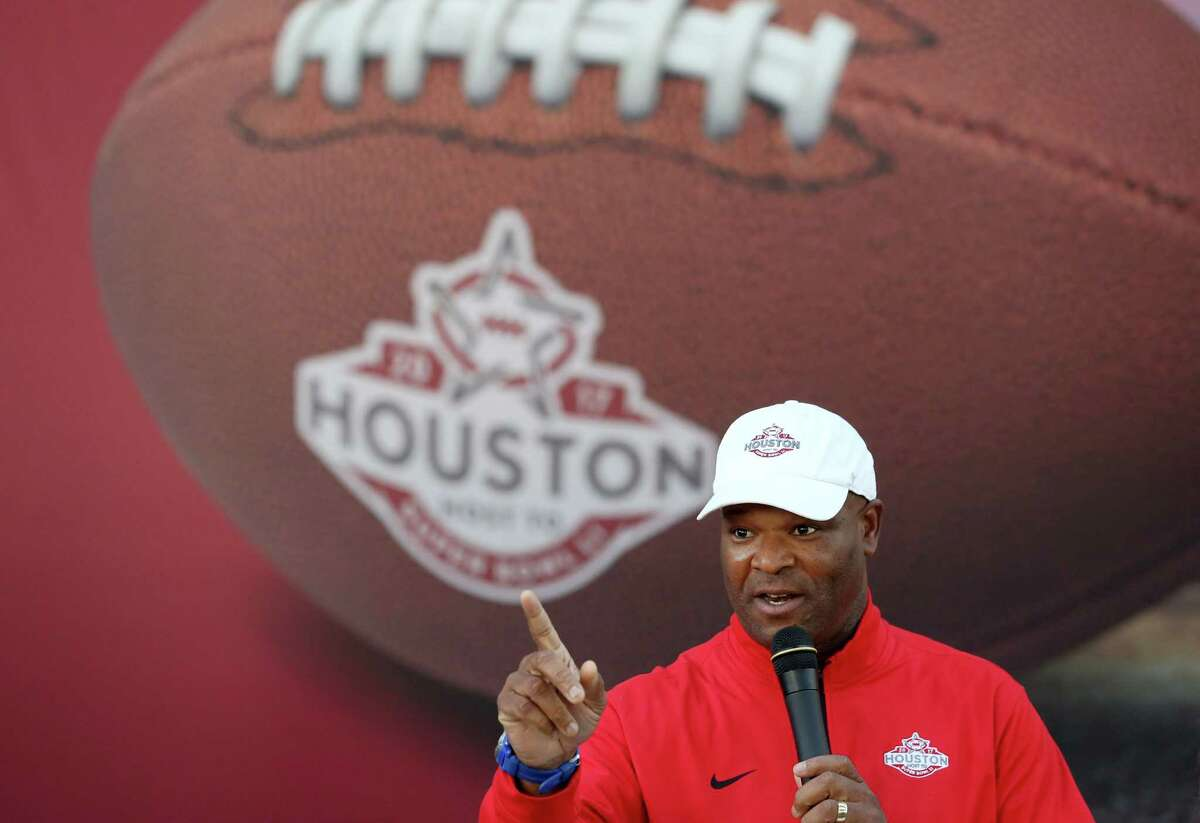 City Council Member Dwight Boykins during a Metropolitan Transit Authority of Harris County Super Bowl-branded bus unveiling event Friday, Oct. 28, 2016, in Houston. METRO would be expanding their services during the period of Super Bowl to transport the greater volume of people. (Yi-Chin Lee / Houston Chronicle )