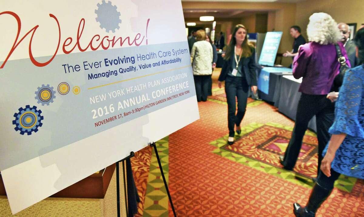 NY Health Plan Association's annual conference at the Hilton Garden Inn Thursday Nov. 17, 2016 in Troy, NY. (John Carl D'Annibale / Times Union)