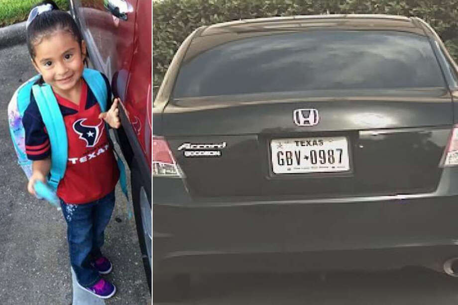 The Harris County Sheriff's Office needs your help tracking down this black Honda Accord, which they say was carjacked from its original owner Monday night before being used in a robbery that led to the death of 4-year-old Ava Castillo. Photo: Harris County Sheriff