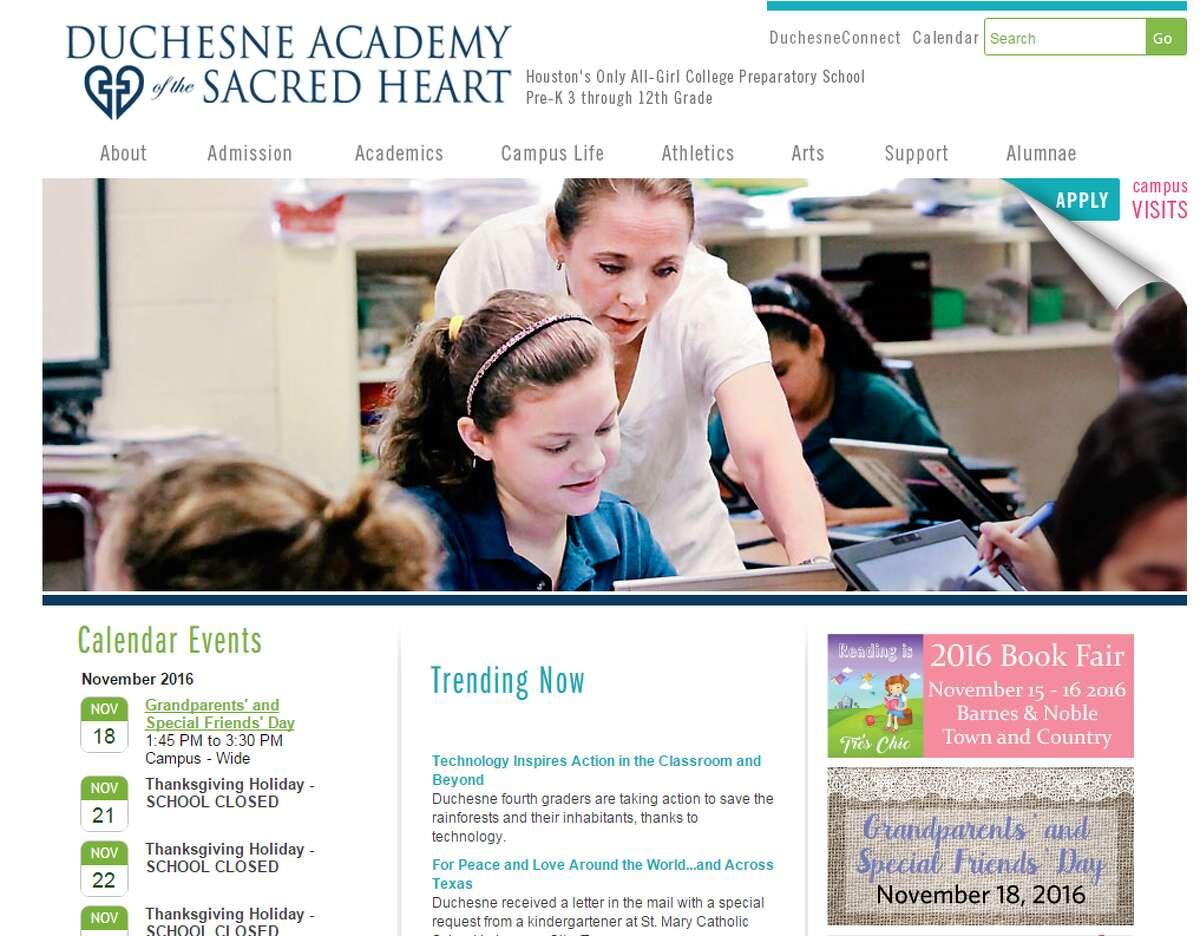 28.Duchesne Academy of the Sacred Heart - Houston Tuition:$23,400 Students:709 Student-teacher ratio: 7:1 Source:Niche