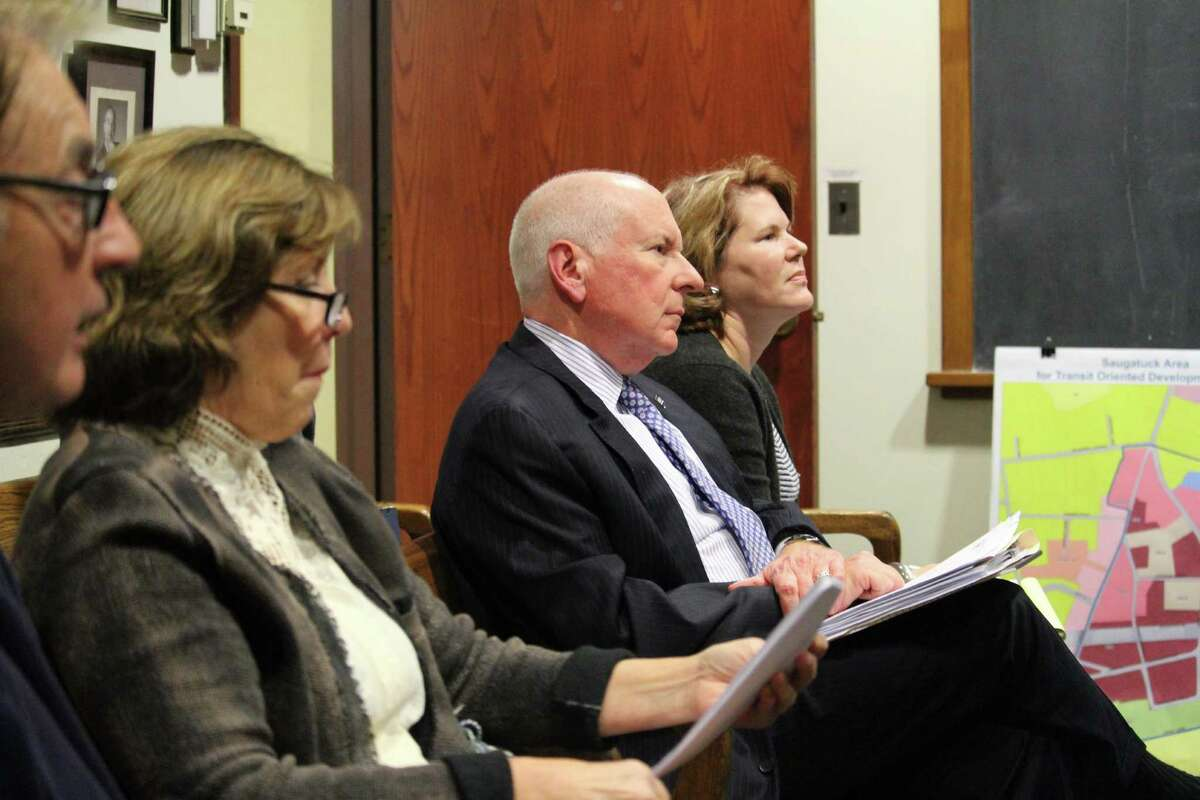 First Selectman Jim Marpe watches as the RTM committees discuss Railroad Place on Nov. 15 , 2016 in Westport Town Hall.