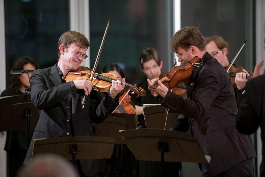 Jonathan Godfrey and Oleg Sulyga perform with Mercury at MATCH. / Photo by Ben Doyle, Runaway Productions LLC