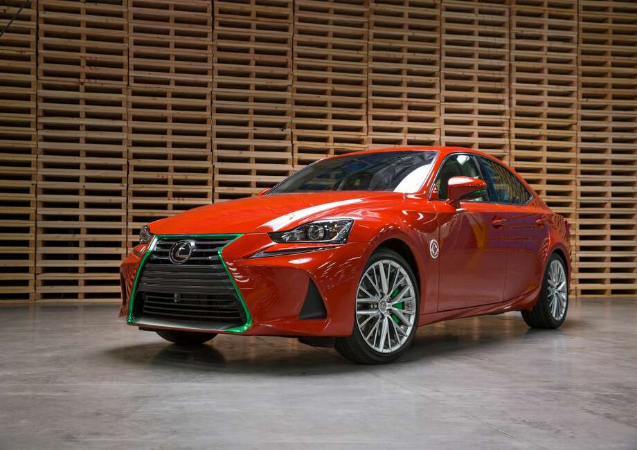 """The bright-red, Sriracha-like custom color is courtesy of West Coast Custom, the car shop featured on episodes of MTV's """"Pimp My Ride."""" Photo: Courtesy Lexus"""