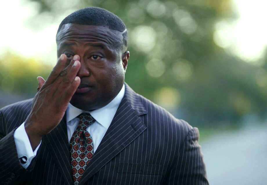 Quanell X, leader of the New Black Panther Party, during a visit to the South Acres street where he grew up, Wednesday, Oct. 26, 2016, in Houston. Quanell spent time dealing drugs in the area, especially at the intersection three doors down from his grandmother's house. Photo: Houston Chronicle / © 2016 Houston Chronicle