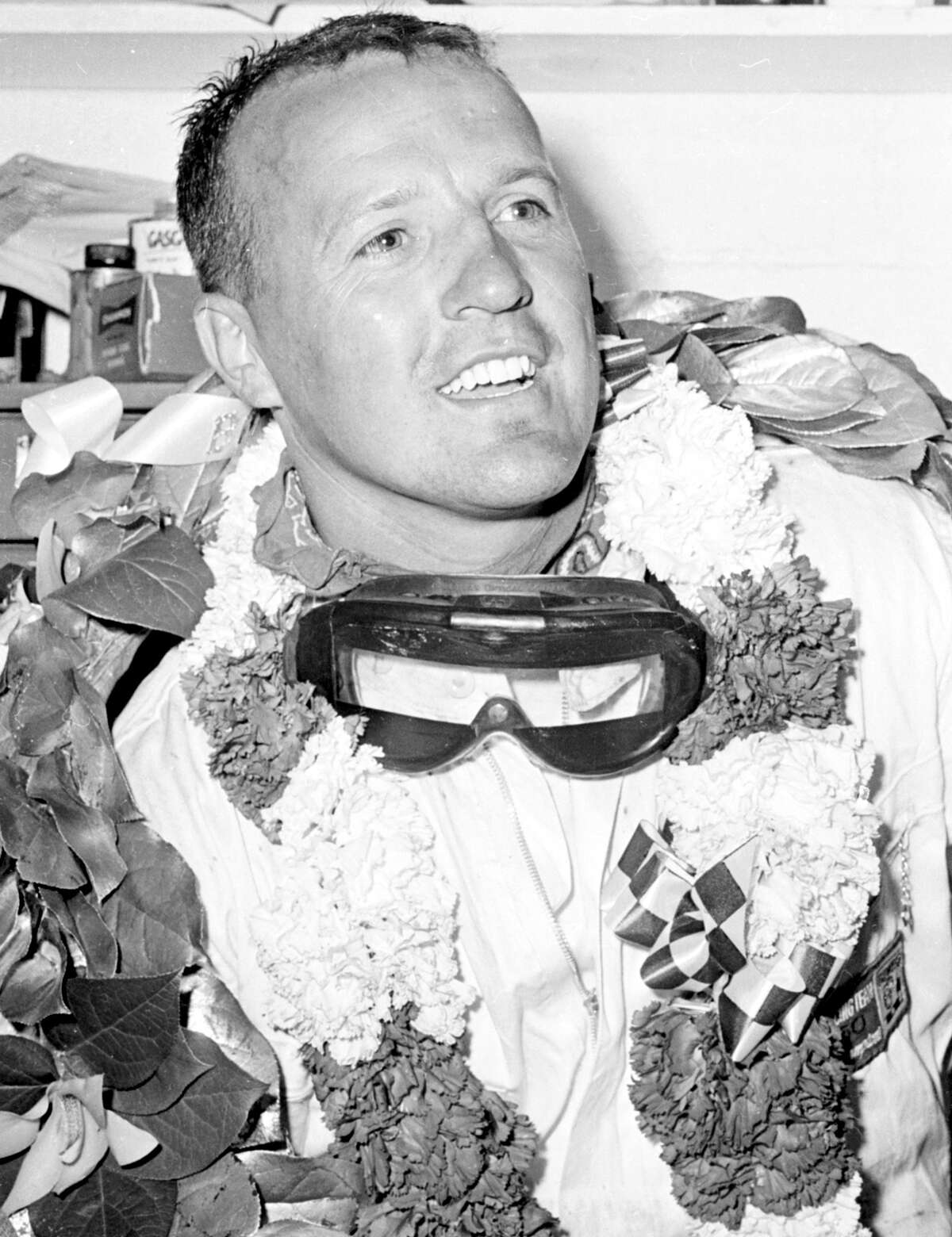 A.J. Foyt is all smiles after his first victory in the Indianapolis 500, which he won four times.