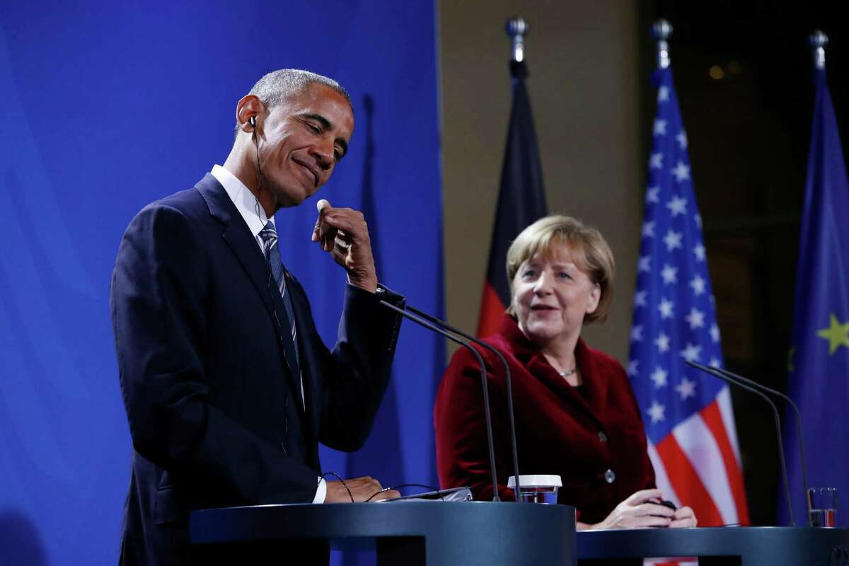 "Sounding unusually sentimental, German Chancellor Angela Merkel said Thursday that ""it is hard to say goodbye"" to President Barack Obama."