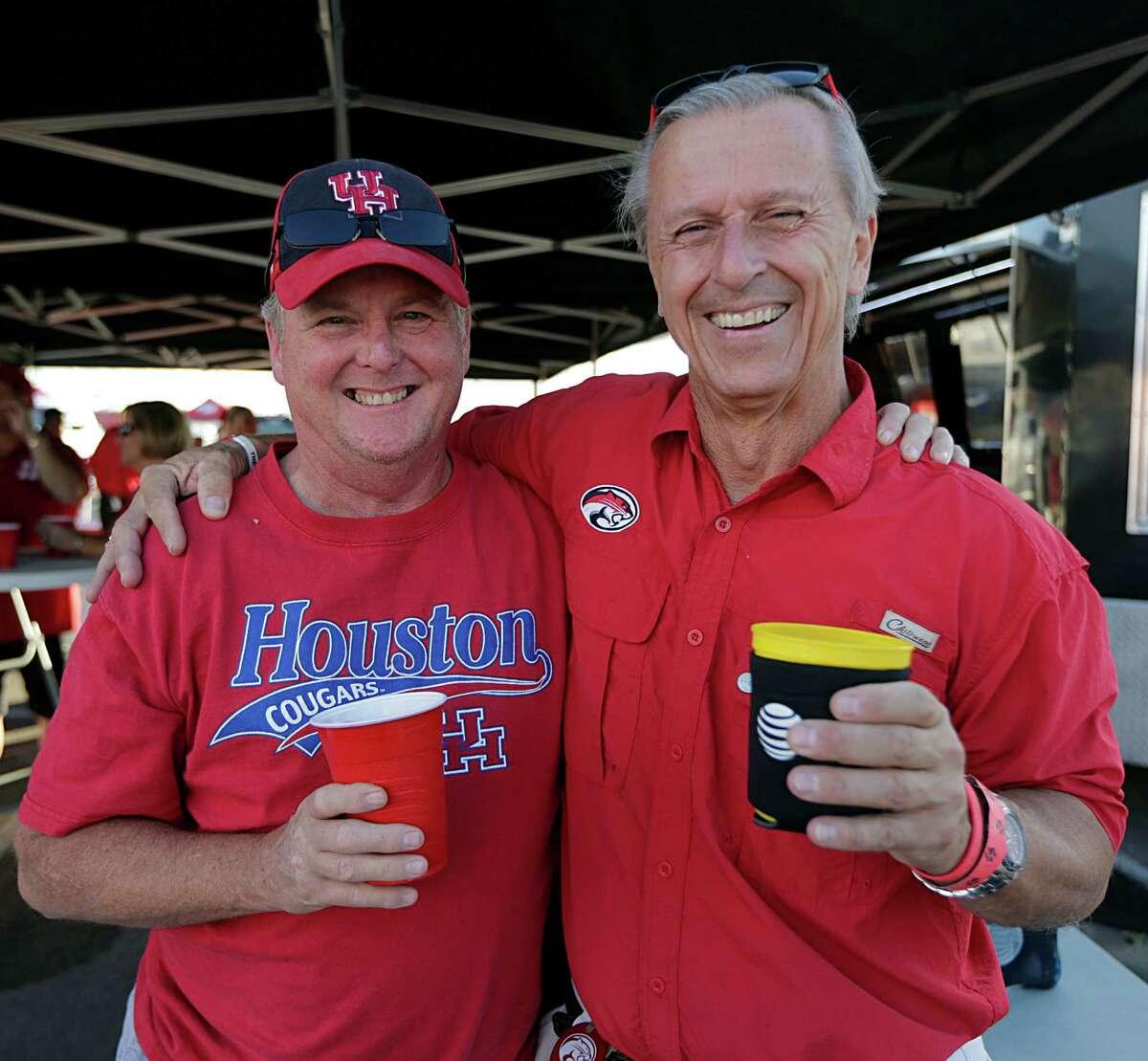 Seensters before the University of Houston, Louisville college football game at TDECU Stadium Nov. 17, 2016, in Houston.