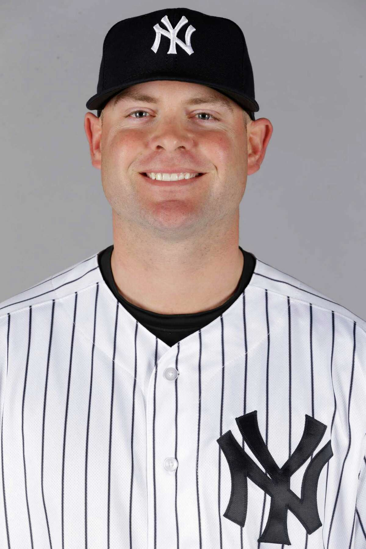 This is a 2016 photo of Brian McCann of the New York Yankees. This image represents the Yankees active roster on Saturday Feb. 27, 2016, in Tampa, Fla. (AP Photo/Chris O'Meara)