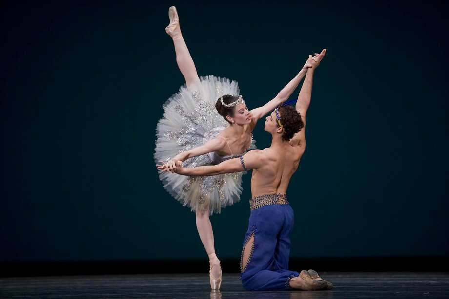 """I love dancing with Vanessa,"" says SF Ballet principal dancer Taras Domitro, shown here partnering her in ""Le Corsaire"" in 2009. Photo: Chris Hardy"