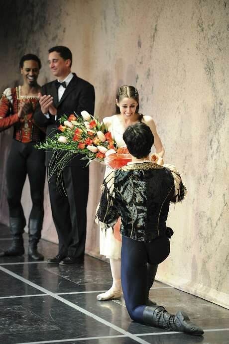 "Davit Karapetyan proposed to Vanessa Zahorian on the Opera House stage after their May 8, 2010, performance of ""Romeo and Juliet."" Photo: Erik Tomasson"