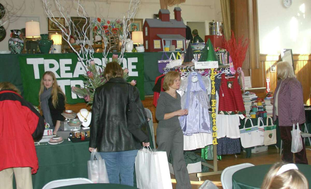 """""""Christmas on Round Hill,"""" a traditional holiday fair, will take place on Dec. 3 from 10 a.m. to 4 p.m.at the Round Hill Community House in Greenwich. Pictured here is a fair from a previous year."""