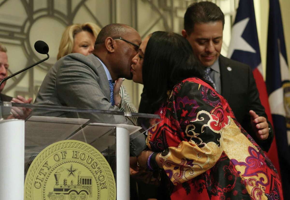 Mayor Sylvester Turner named Judge Elaine Marshall as presiding municipal court judge, one of a handful of appointment sTurner announced on Thursday at a news conference at City Hall.
