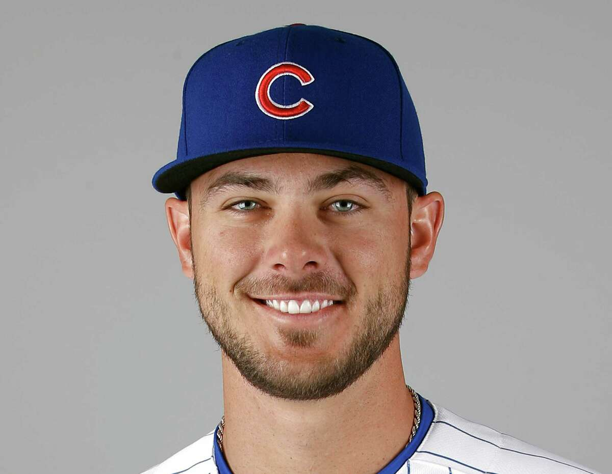 FILE - This is a 2016 file photo showing Kris Bryant of the Chicago Cubs baseball team. Bryant, Daniel Murphy and Corey Seager are up for the National League Most Valuable Player award. (AP Photo/Morry Gash, File)