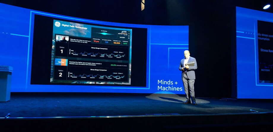 Colin Parris, vice president of GE Software Research, at the GE Minds + Machines conference in San Francisco on Wed. Nov. 16, 2016 Photo: Rulison, Larry