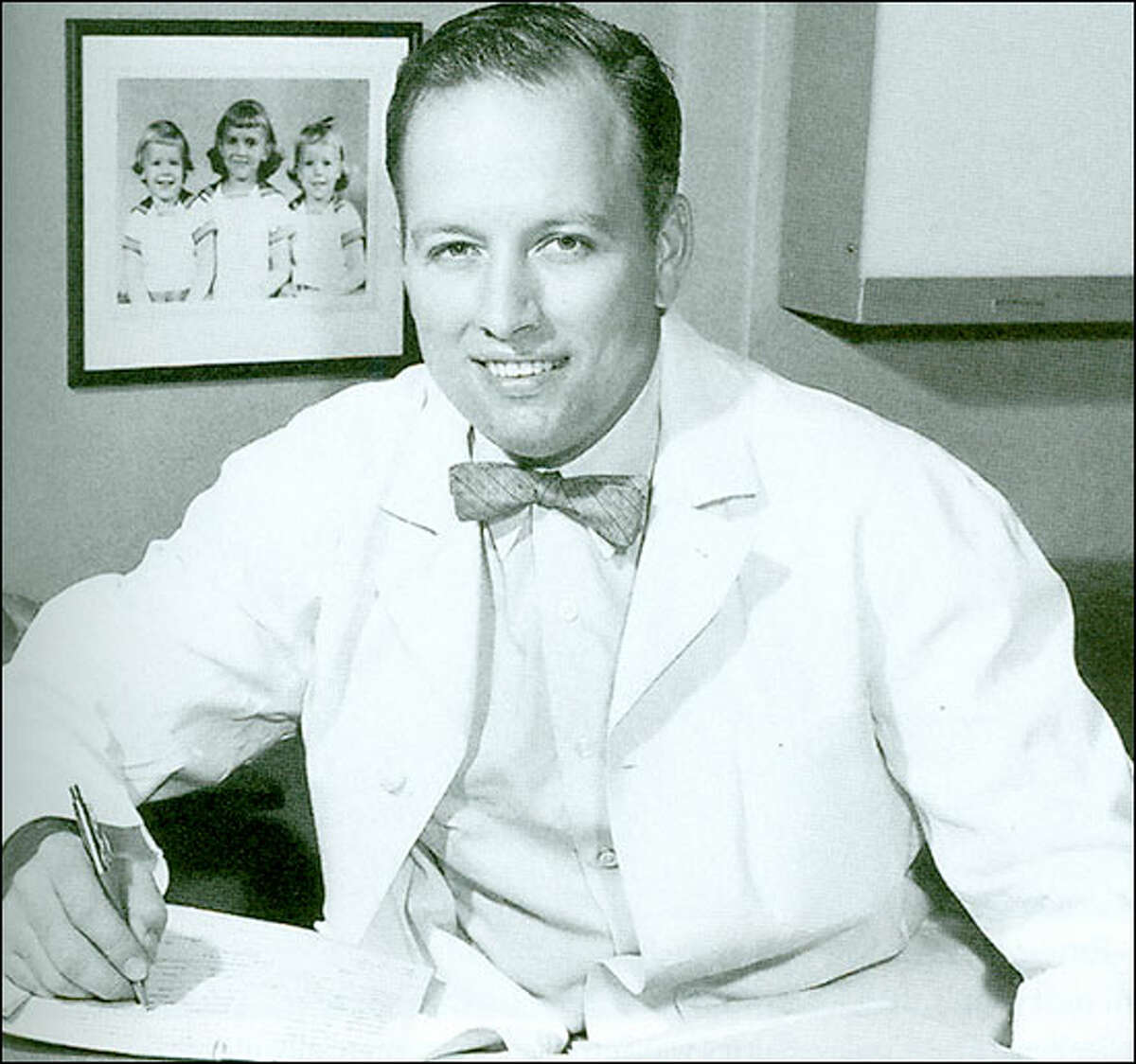 1920: Born in Houston on Aug. 26 to Ralph Clarkson Cooley and Mary Fraley Cooley. Ralph was a prominent Houston dentist and a grandfather, Daniel Denton Cooley, was the founder of the Houston Heights neighborhood. Dr. Denton A. Cooley circa 1955.