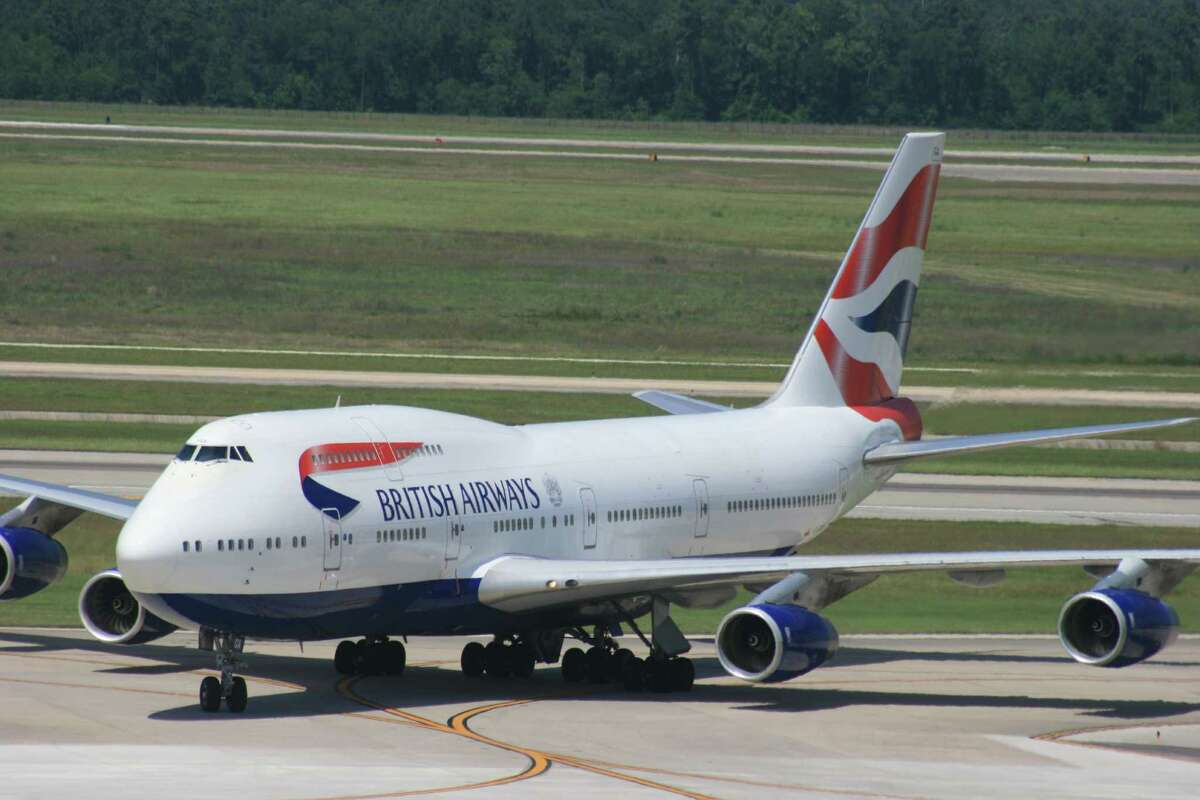 A British Airways Boeing 747 taxis at Bush Intercontinental Airport in April 2015.