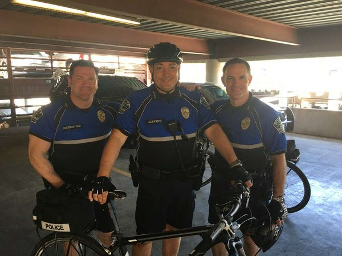 Houston's nominee for police chief, Art Acevedo, donned spandex and hit the streets with his officers during South By Southwest on March 14.