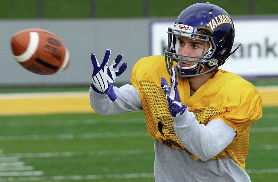 UAlbany wide receiver Austin Ellis during practice at Casey Stadium Wednesday Nov. 16, 2016 in Albany, NY.  (John Carl D'Annibale / Times Union) Photo: John Carl D'Annibale / 20038836A