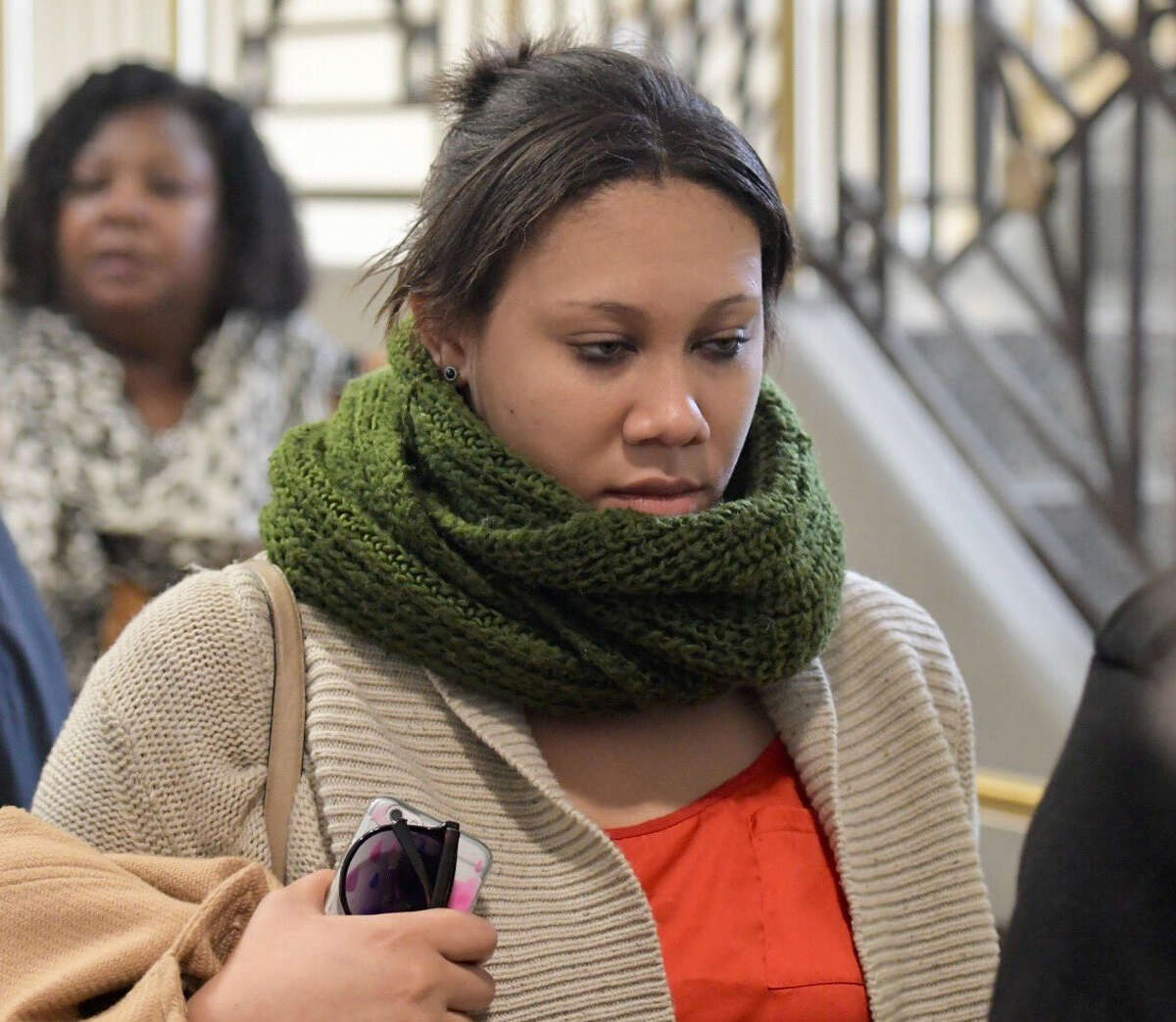 Ariel Agudio of Huntington, Suffolk County, arrives for a hearing Friday, Nov. 18, 2016, as a defendant in the UAlbany bus attack. (Skip Dickstein / Times Union)