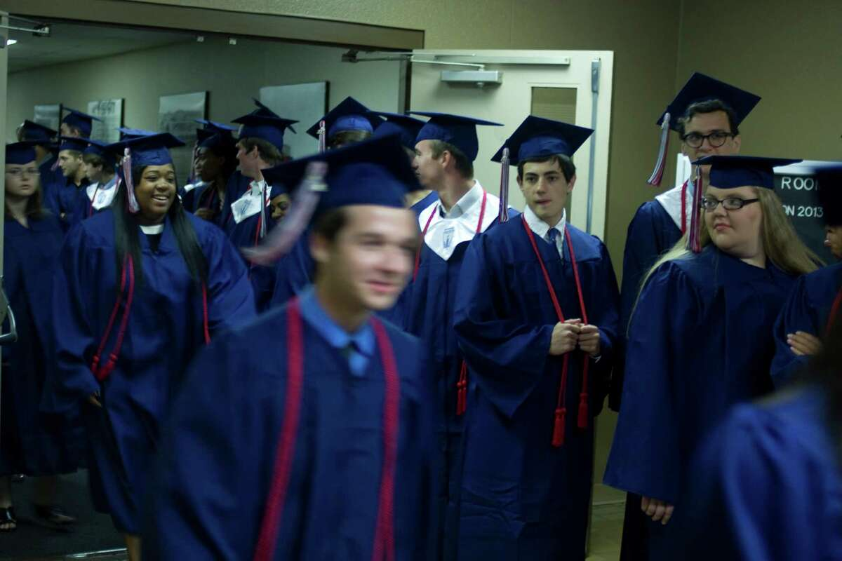 Graduates at the Hardin-Jefferson High School graduation ceremony June 6, 2013.