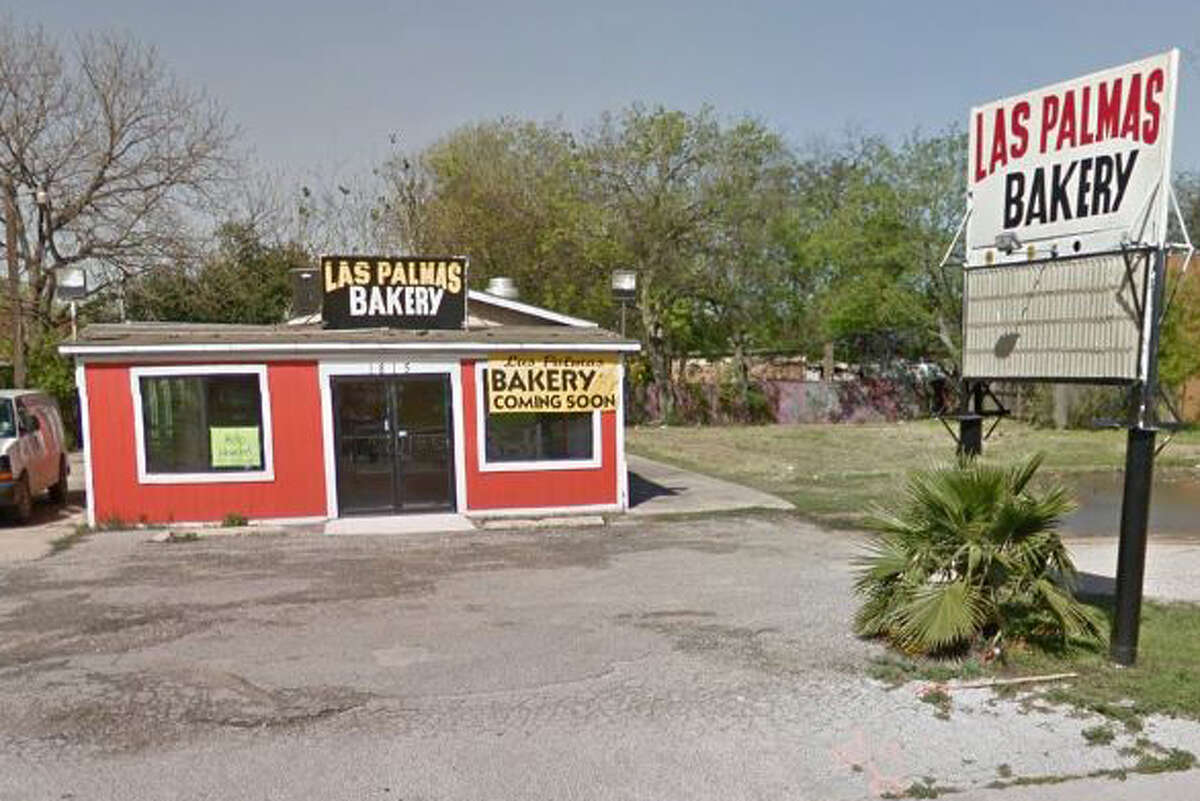 Las Palmas Bakery #2: 1815 Palo Alto Road, San Antonio, TX 78211 Date: 03/17/2018 Score: 79  Highlights: Inspectors observed live roaches in storage area; abundance of rodent droppings seen in storage area and throughout establishment; walls, doors and floors have buildup of food debris; food not protected from cross-contamination (masa/dough stored on racks of reach-in refrigerator without being wrapped in plastic or stored in container; open butter stored in collected water at bottom of reach-in cooler; pastry ingredients, including sugar, flour, cinnamon, stored uncovered in reach-in refrigerator); tray of baked pastries seen stored on floor; food-contact surfaces must be clean to sight/touch (prep tables had buildup of food debris); employees' personal items seen near food area; equipment must be in good repair (deep freezer lids, gaskets); food found stored in non-food grade bags (masa, barbacoa)