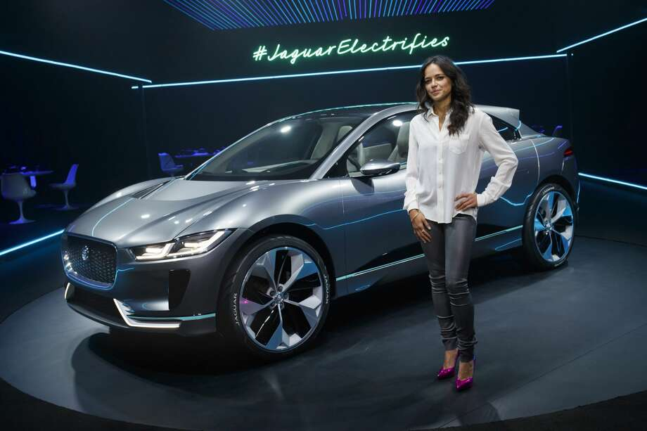 LOS ANGELES, CA - NOVEMBER 14:  Michelle Rodriguez with the Jaguar I-PACE Concept at Milk Studios on November 14, 2016 in Los Angeles, California.  (Photo by Handout/Jaguar Land Rover via Getty Images) Photo: Handout/Getty Images Via Jaguar Land Rov