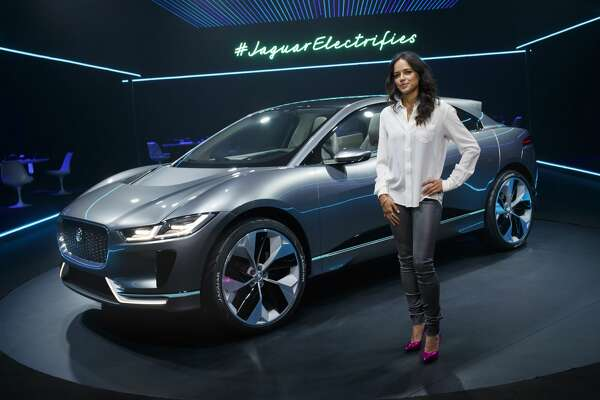 LOS ANGELES, CA - NOVEMBER 14:  Michelle Rodriguez with the Jaguar I-PACE Concept at Milk Studios on November 14, 2016 in Los Angeles, California.  (Photo by Handout/Jaguar Land Rover via Getty Images)