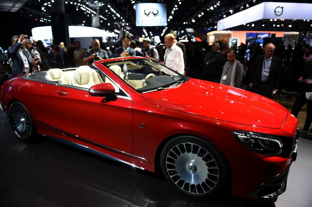 The 2017 Mercedes-Maybach S 650 Cabriolet is unveiled at its world premiere at the Mercedes-Benz press conference during media preview days ahead of the public opening of the Los Angeles Auto Show, in Los Angeles, California, November 16, 2016. The LA Auto Shows consumer days will be open to the public, November 18-27. / AFP / Robyn Beck (Photo credit should read ROBYN BECK/AFP/Getty Images)