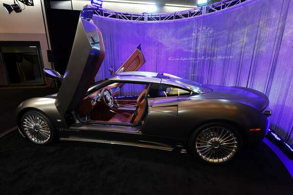 The Spyker C8 Preliator is displayed at the Los Angeles Auto Show, November 17, 2016 in Los Angeles, California. / AFP / Robyn Beck (Photo credit should read ROBYN BECK/AFP/Getty Images)